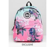 Exklusiver Rucksack mit Ombré-Blumenmuster Mehrfarbig