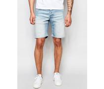 Jeansshorts in heller Waschung Blau