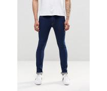 Superenge Jeans in Kornblumenblau, 12,5oz Blau