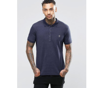 T-Kalar-Dots Jersey-Polohemd Marineblau