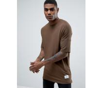 Gestricktes T-Shirt in lässiger Passform Grün