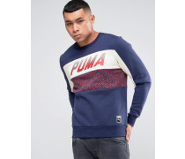 Speed Font Blaues Sweatshirt mit Rundhalsausschnitt, 57160108 Blau