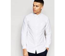 Lye Schmal geschnittenes Hemd Weiß