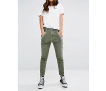 Fayza Lässige Boyfriend-Jeans mit tiefer Taille Grün