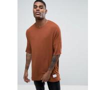 Gestricktes T-Shirt in lässiger Passform Braun