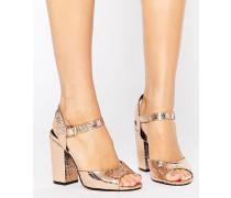 Goldene Sandalen mit Tanz-Absatz Gold