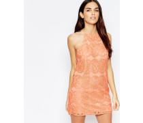 Rückenfreies Minikleid aus Spitze Rosa