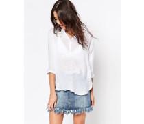 Hemd mit V-Ausschnitt Weiß
