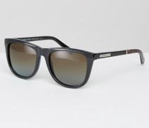 Sonnenbrille mit D-förmigem Gestell Schwarz