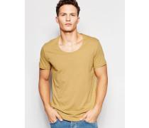 Daniel T-Shirt mit U-Ausschnitt in Beige Beige
