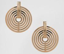 Scheibenförmige Ohrringe Gold