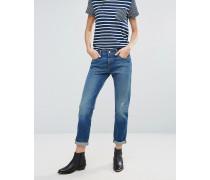 Levi's 501 Ct Boyfriend-Jeans mit umgekrempelten Abschlüssen Blau