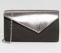 Kinga Umschlag-Clutch mit Kontrastdesign Schwarz
