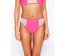 Bikinihose mit Netzstoffeinsatz in Rosa Rosa