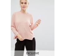 Pullover mit Tasche Rosa