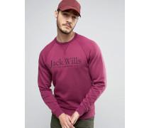 Blackwell Sweatshirt in Beerenrot mit Grafiklogo Rot