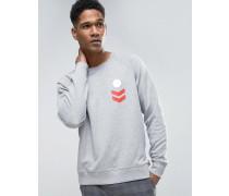 Sweatshirt mit aufgedruckten Aufnähern Grau