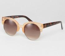 Runde Sonnenbrille in Schildplattoptik Mehrfarbig