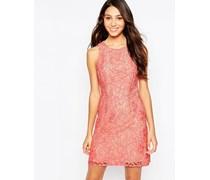 Hübsches Vintage-Skaterkleid aus Spitze Rosa
