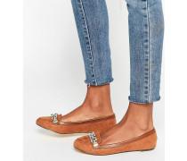 Loafer mit Kettenbesatz Bronze