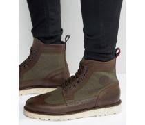 Northgate Budapester-Stiefel aus Leder und Wolle Braun