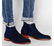 Camroon Chelsea-Stiefel aus Wildleder Blau