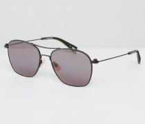 Radcord Pilotensonnenbrille in Schwarz Schwarz