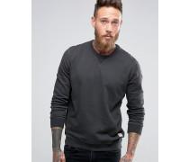 Sweatshirt mit Rundhalsausschnitt Schwarz