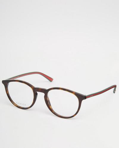 gucci herren runde brille mit klaren gl sern und gestell. Black Bedroom Furniture Sets. Home Design Ideas