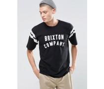 College-T-Shirt in regulärer Passform mit Logo Schwarz