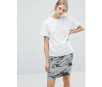 Pullover mit Farbblockdesign und Laser-Logo Weiß