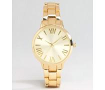Elegante Uhr mit Gliederarmband Gold