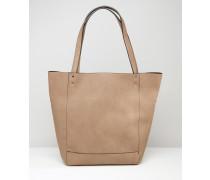 Shopper-Tasche mit Nietenverzierung Bronze