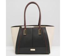 Shopper-Tasche in Blockfarben Mehrfarbig