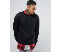Oversized-Pullover Schwarz