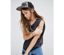 Beach Girl Trucker-Kappe mit Palmen-Print Mehrfarbig