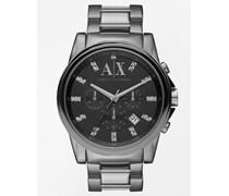 AX2092 Armbanduhr aus rostfreiem Edelstahl Silber