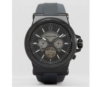 Dylan MK9026 Automatik-Uhr mit Silikonband Schwarz