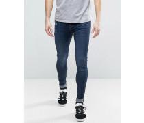 Brooklyn Supply Co Extrem enge Jeans mit Verschleißspuren Blau