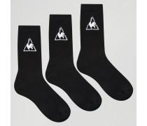 3er Pack Socken mit Logo Schwarz