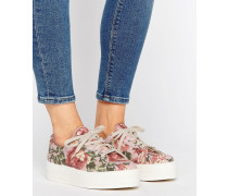 DAY Canvas-Sneaker mit Plateausohle Mehrfarbig