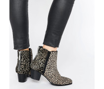 ASOS Animal Time Ankle Boots Mehrfarbig