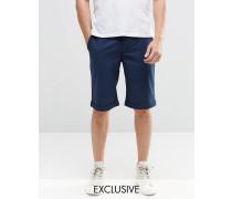 Brooklyn Supply Co Enge Chino-Shorts in Marineblau Marineblau
