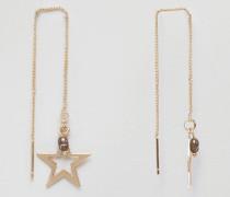 Ohrringe mit Stern-Anhänger Gold