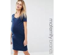 Mamalicious Jeanskleid Blau