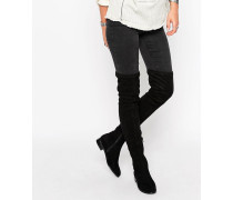 KEEPERS Flat Over The Knee Boots Schwarz