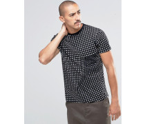 Factured Dot T-Shirt Schwarz