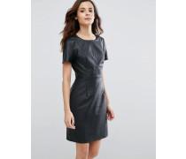 Betsy Kleid mit perforiertem Design Marineblau