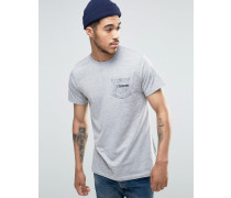 T-Shirt mit Paisley-Tasche Grau