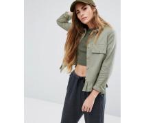 Schößchenhemd mit Rüschen Grün